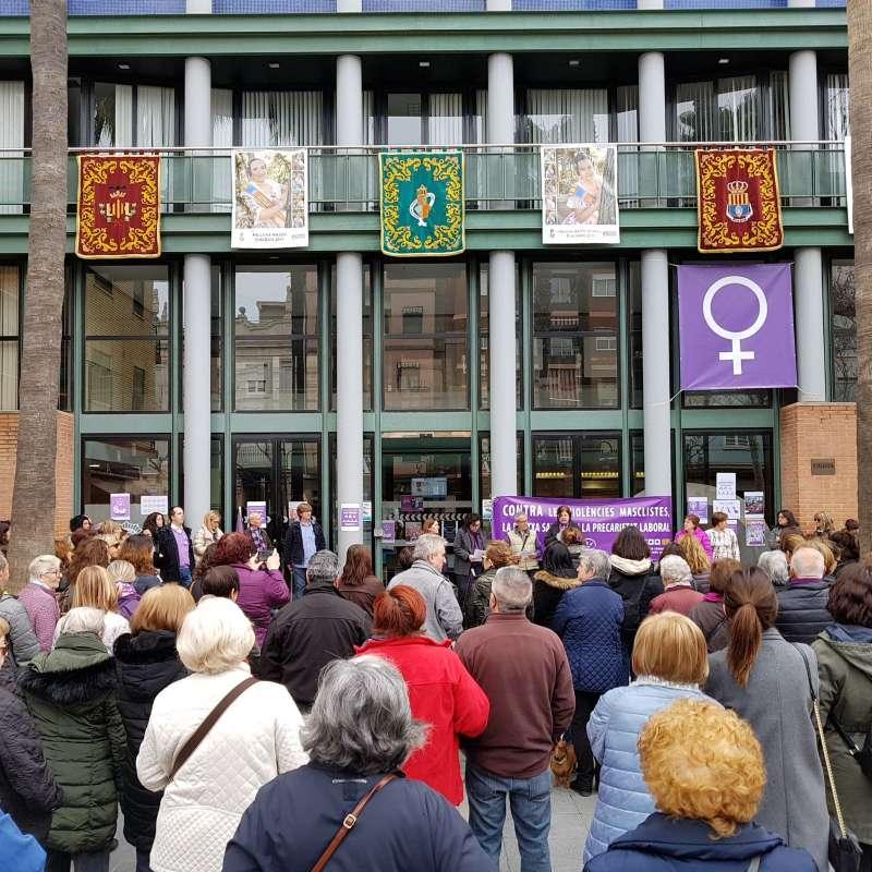 Concentración en Aldaia por el Día de la Mujer. EPDA