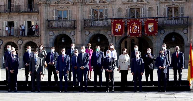 Presidentes autonómicos con el Rey en Salamanca