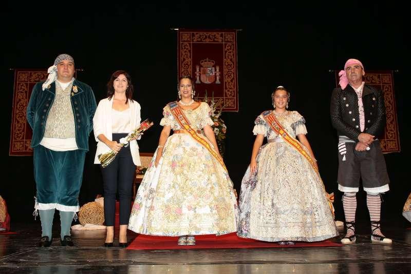 Maribel Albalat en un acte de la Junta Fallera de Paiporta. EPDA
