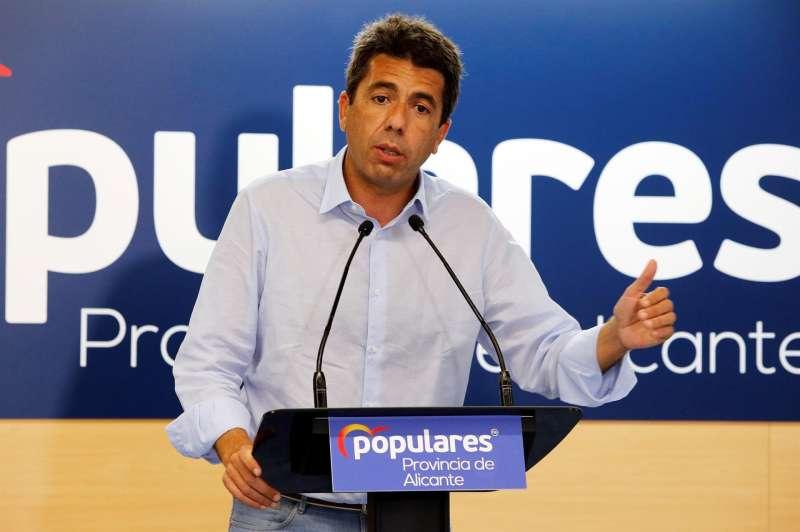 El presidente provincial del Partido Popular, Carlos Mazón.