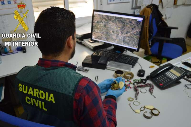 Objetos recuperados por la Guardia Civil. EPDA