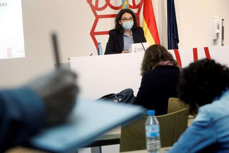 La vicepresidenta y portavoz del Consell, Mónica Oltra. EFE/Biel Aliño/Archivo