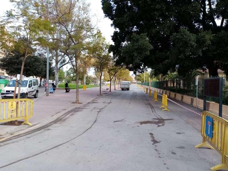 Se han habilitado diversas zonas cercanas para aparcamiento, como la calle peatonal Doctor Fleming. / EPDA