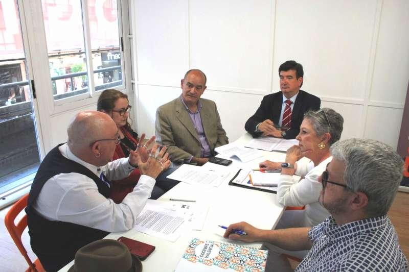 Fernando Giner de Ciudadnos durante la reunión