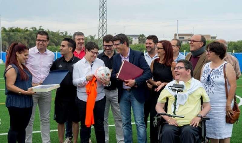 Inauguración del campo de fútbol de Bonrepòs i Mirambell. EPDA