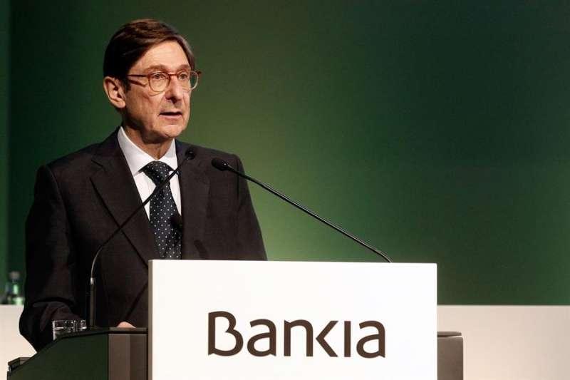 El presidente de la entidad, José Ignacio Goirigolzarri al inicio de la Junta, hoy en Valencia..EFE