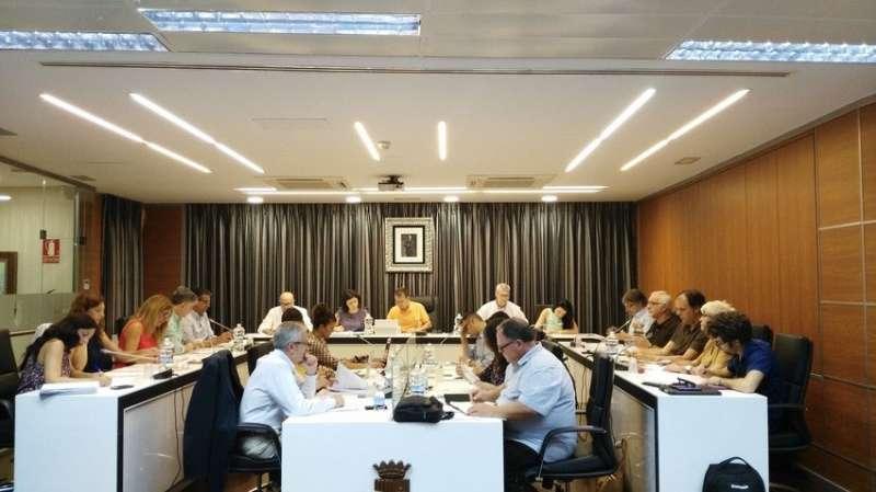 Imagen de una sesión del Pleno de Riba- roja. / EPDA