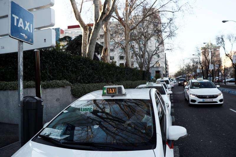 Taxis en una parada. EFE/Archivo