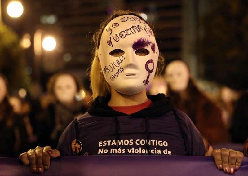 Imagen de una manifestación convocada contra la violencia machista. EFE