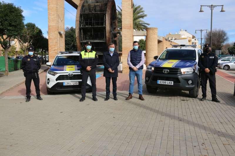 Presentació cotxe policia./EPDA