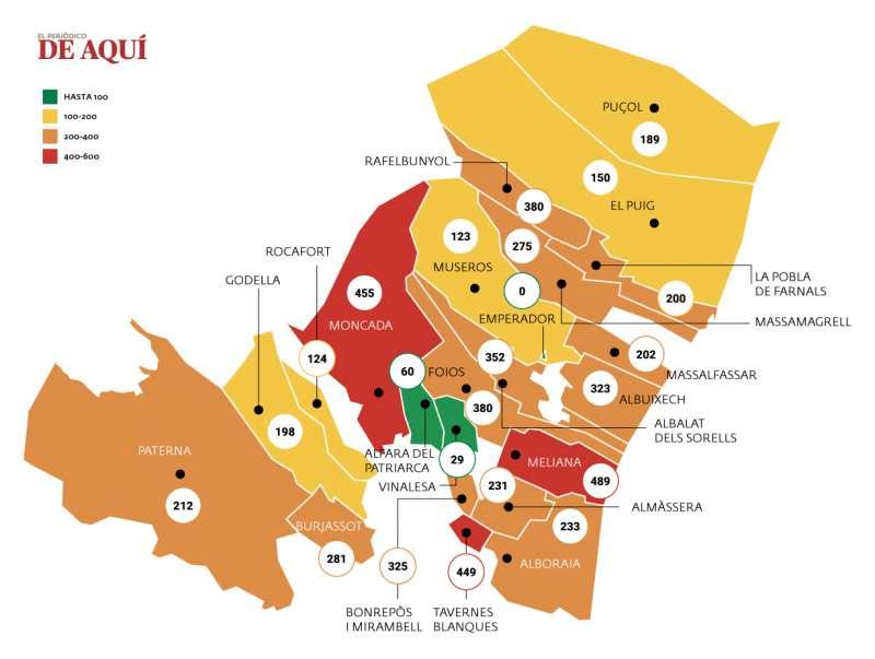 Mapa del coronavirus. EPDA
