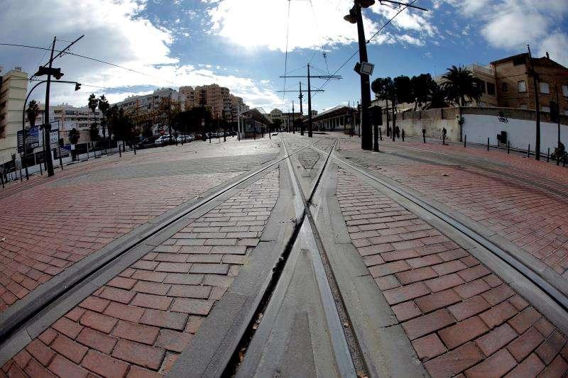 Un tramo sin servicio de Metrovalencia. EFE/Archivo