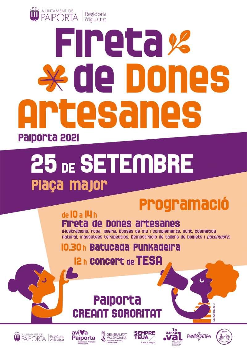 Cartell de la Fireta de Dones Artesanes de Paiporta.