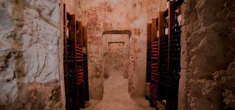 Cava de vinos de la Bodega Chozas Carrascal