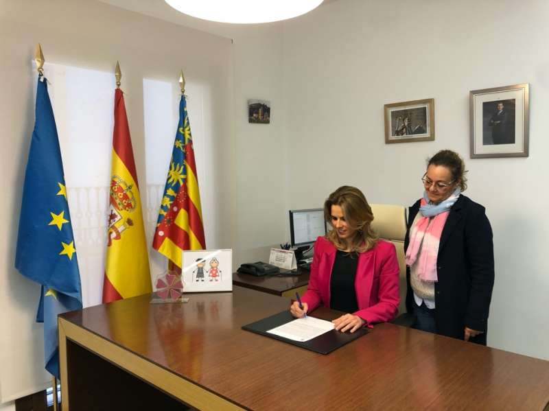 Alcaldesa de Pedralba. EPDA