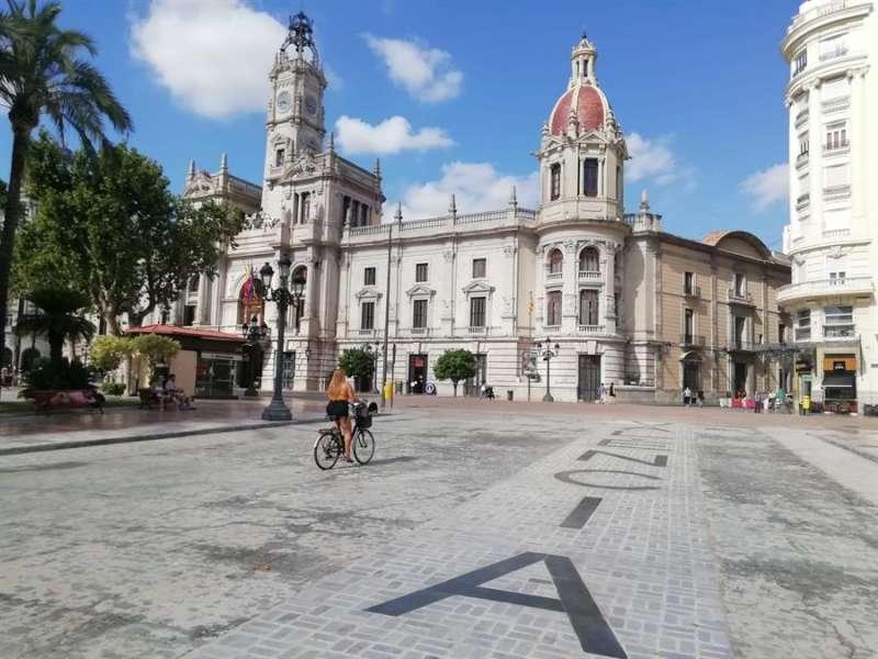 Vista parcial de la intervención, en una imagen difundida por el Ayuntamiento de València.