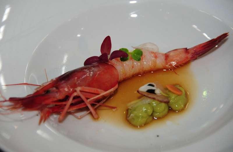 Un plato creado con gamba roja, imagen extraída de la web del Ayuntamiento de Dénia.-EPDA
