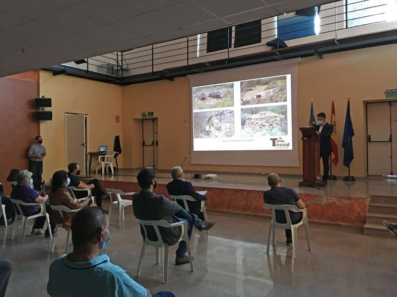 Acto de presentación del mapa en Loriguilla. / EPDA