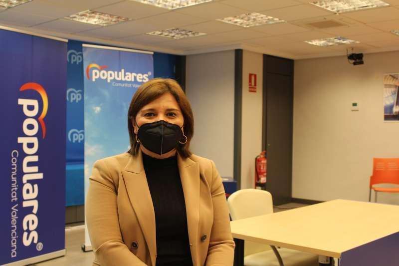 Isabel Bonig, en la sede del PPCV. EPDA