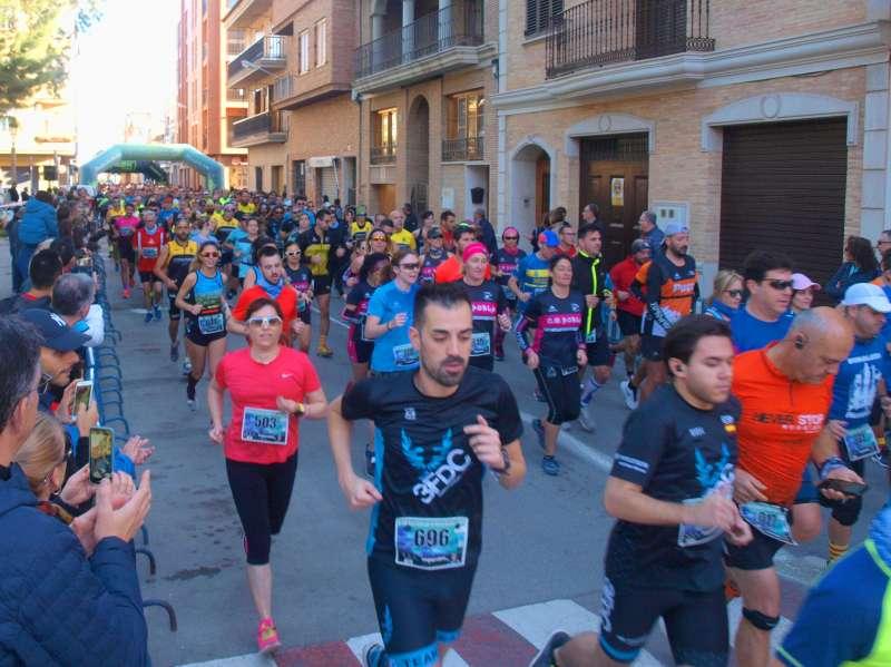 Imatge de la sortida de la cursa 10K Solidaria a Foios.- EPDA