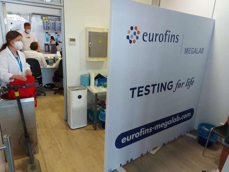 Los laboratorios Eurofins Megalab en los aeropuertos de Alicante-Elche y Valencia.