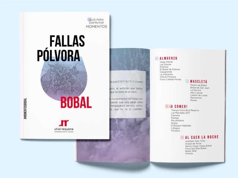 La guía de vinos y Fallas editada por la DO Utiel-Requena.