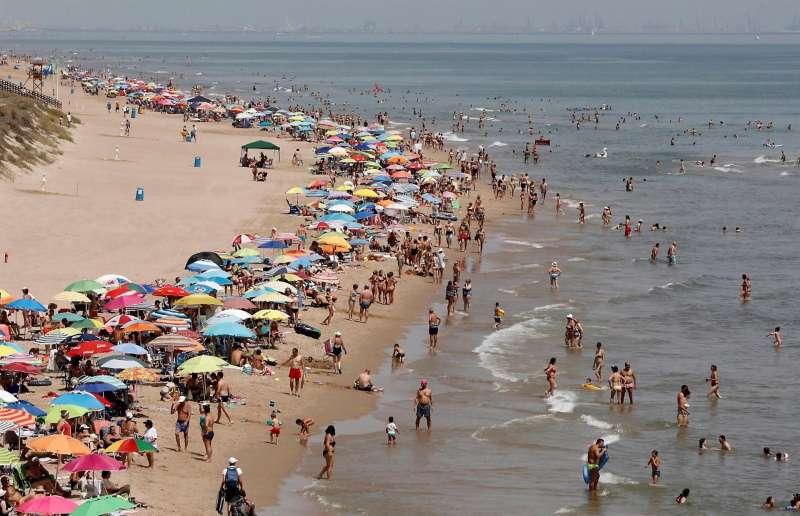 Imagen de archivo de las playas de Cullera.