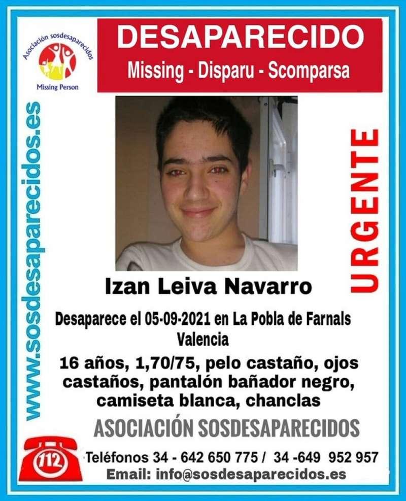 Imagen compartida por la asociación SOS Desaparecidos.