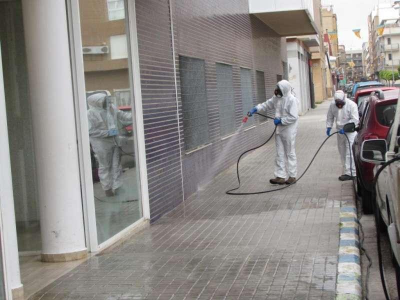 Desinfección de calles en Massanassa. EPDA