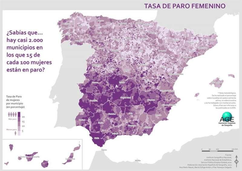 Mapa de desigualdad laboral. EPDA.