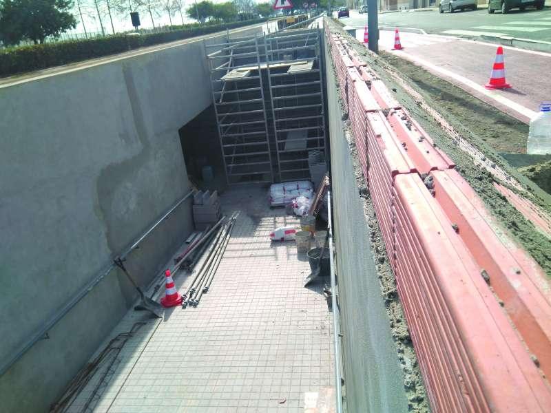 Obres de millora del túnel. EPDA