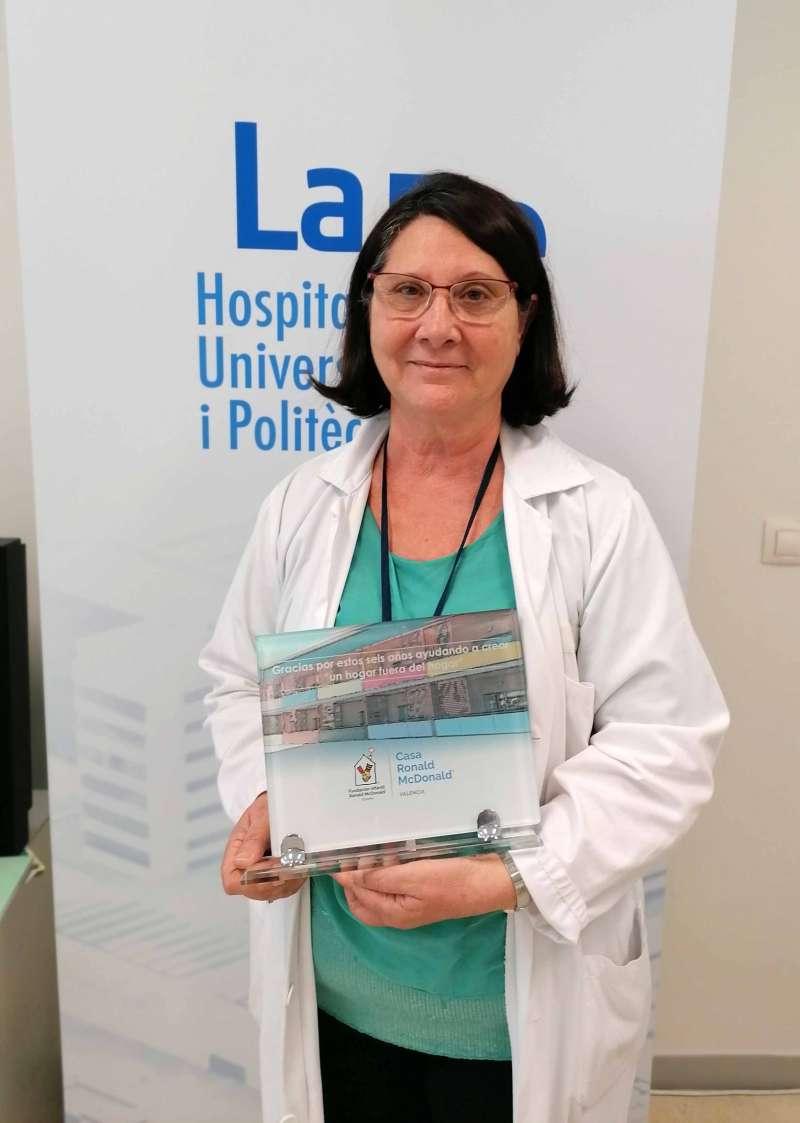 La trabajadora social del Hospital La Fe de València, María Antonia Herrera. EPDA