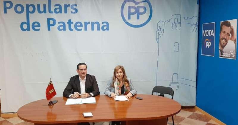 Bellver y Villajos, en la sede de Paterna. EPDA