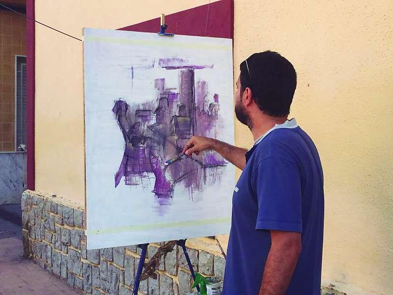 Participante de una edición pasada del Concurso de Pintura Rápida Michavila de Albalat dels Tarongers. EPDA