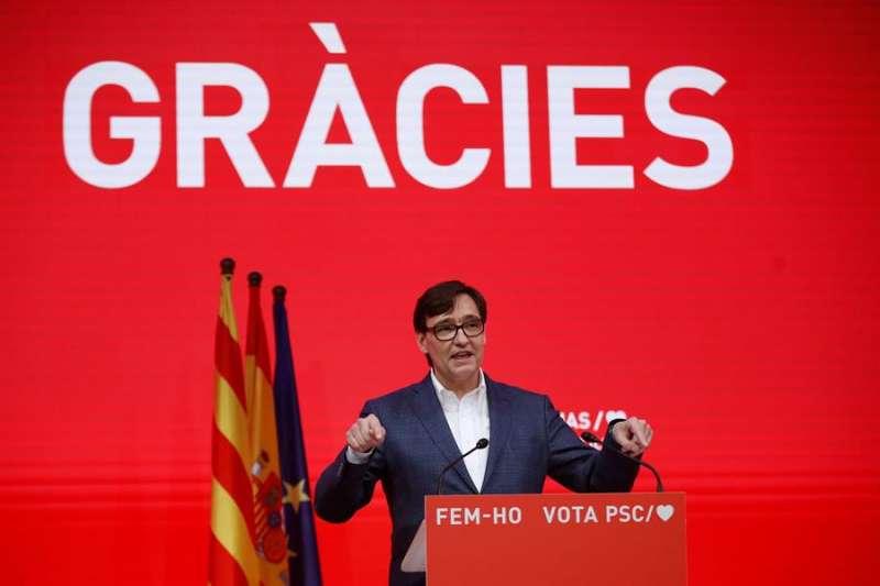 El candidato a la presidencia de la Generalitat por el PSC, Salvador Illa.