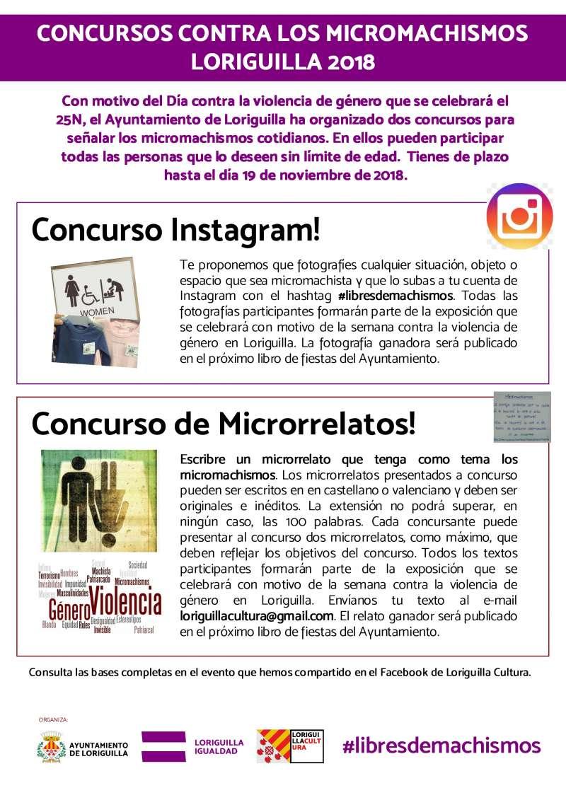 Cartel concurso Micromachismos