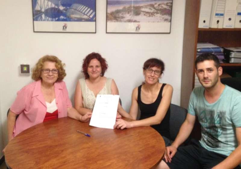 Integrantes de la asociación El Molí de Quart de les Valls. EPDA
