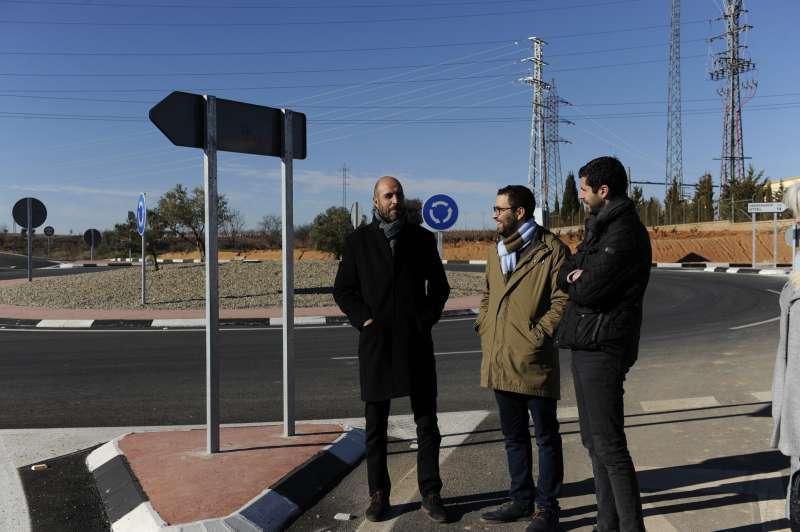Visita del director general de Carreteras, Pablo Seguí el pasado mes de enero
