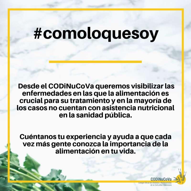 Cartel de la campaña #comoloquesoy