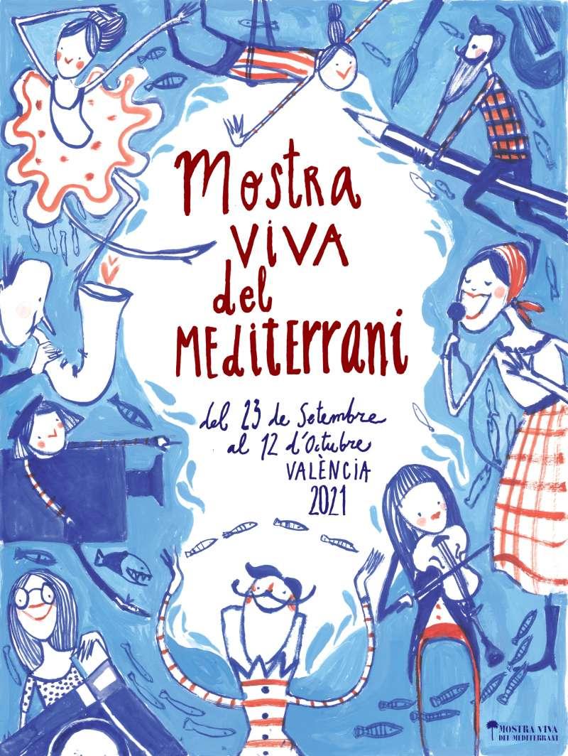 Cartel de la Mostra Viva del Mediterrani.
