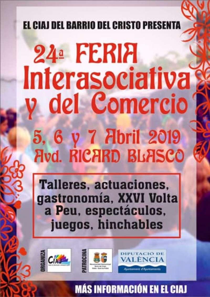 Cartel de la Feria Interasociativa y del comercio