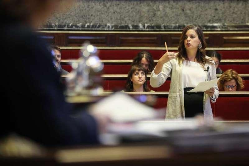 La secretaria general del PSPV en València, Sandra Gómez. EFE/Ana Escobar/Archivo