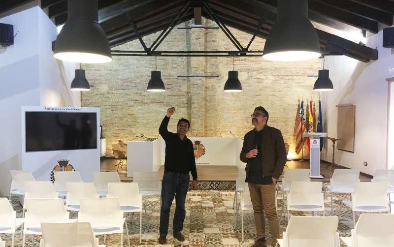 Salón de plenos, antigua almazara de Olocau. EPDA