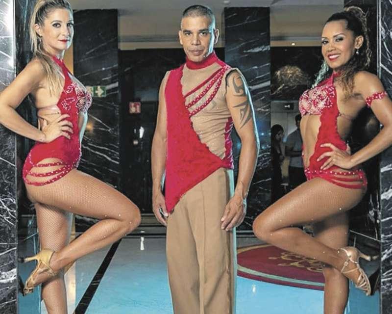 Carmen, Marta y Johnny de la Academia Salsa y Punto. EPDA