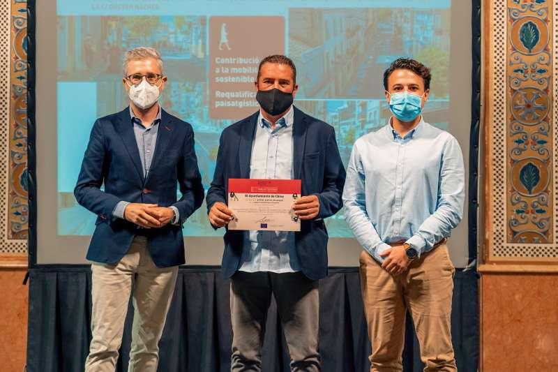 Chiva consigue el primer premio de Movilidad Urbana Sostenible por su actuación de urbanismo táctico. EPDA