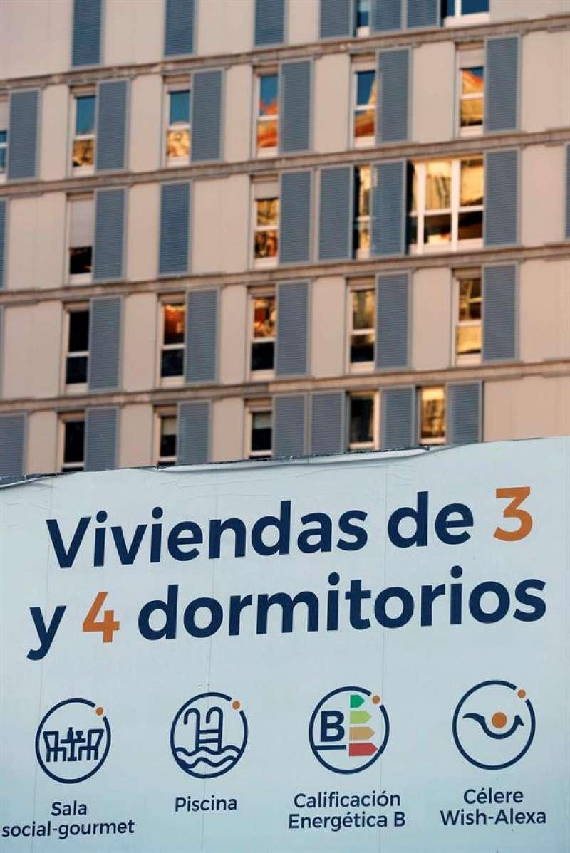 Vista general de una promoción de vivienda nueva. EFE