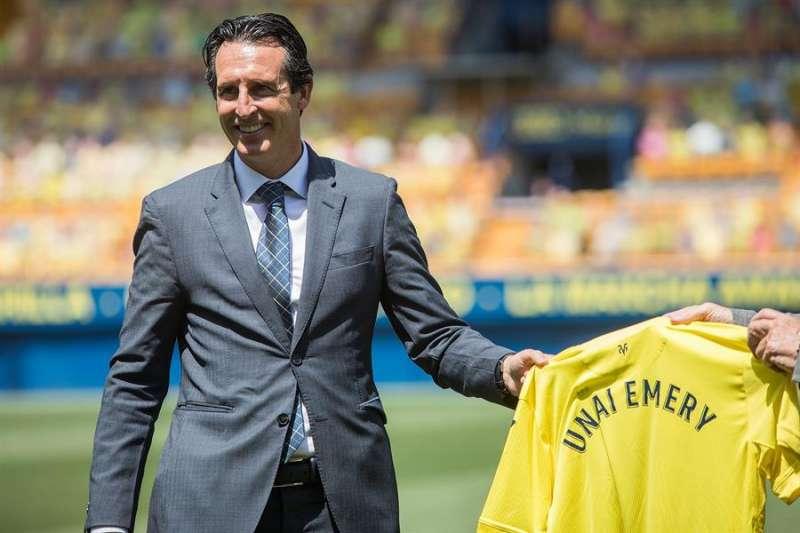 Unai Emery durante su presentación como nuevo entrenador del Villarreal.EFE/ Archivo