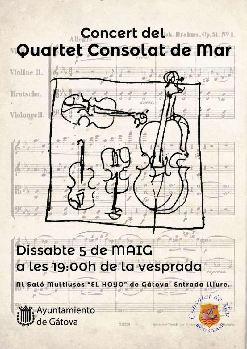 Cartell concert Quartet Consolat de Mar