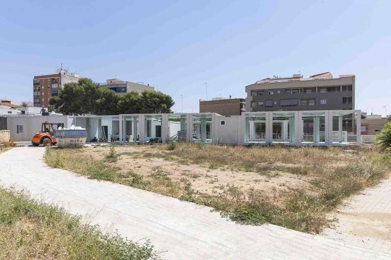 Aules prefabricades on s instal larà temporalment el CEIP Sant Ignasi de Loiola de Picassent. EPDA