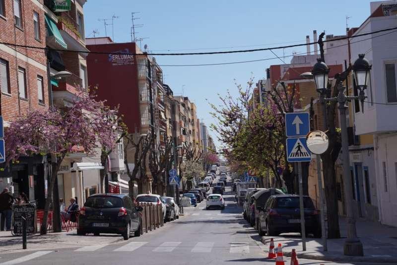 Una calle de la ciudad de Paterna. EPDA